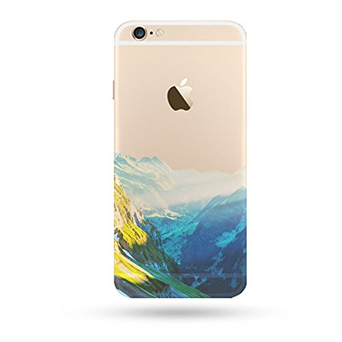 """Jinberry Colorate Custodia Protettiva in TPU Morbida per iPhone5s / SE (4"""") Dipinto Ultrasottile 0.5mm Case Back Cover con Protezione Tappi Polvere Apple iPhone 5 / SE - Alba"""