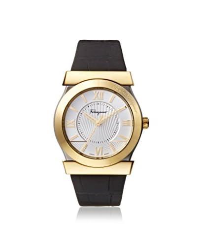 Salvatore Ferragamo Men's FI0950014 Vega Black/Silver Leather Watch
