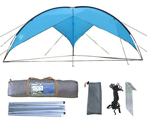zoophyter-157-x-157-ft-strand-sonnenschutz-shelter-uberdachung-zelt-mit-guy-linie-stake-kit-fur-wind