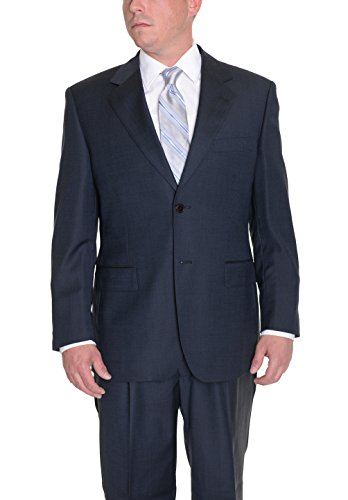 carlo-palazzi-navy-blue-textured-two-button-wool-suit-with-pleated-pants