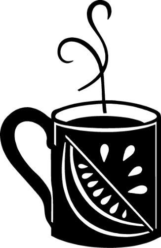 """Twist Of Lemon Coffee Cup"" Decal 10"" X 16"""