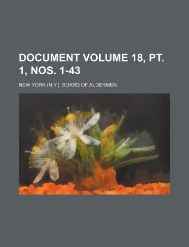 Document Volume 18, pt. 1, nos. 1-43