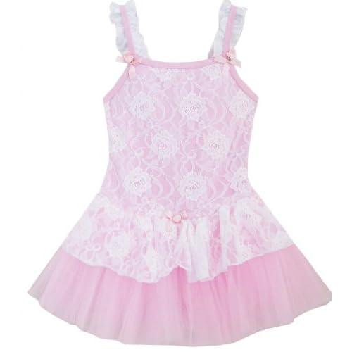 DM53 こどもドレス 女の子ドレス キッズドレス チュチュドレス バレエ ダンス チュール 層 ピンク 105cm
