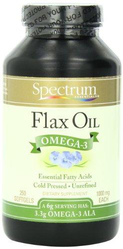 Spectrum Essentials Flax Oil, 1000 Mg, 250 Softgels
