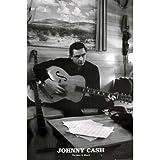 Johnny Cash Poster the Man in Black,Schwarz-Wei�