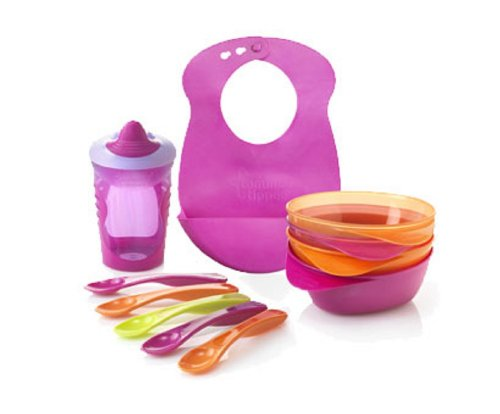 Explora Self Feeding Kit 7M+ By Tommee Tippee (Girl) front-694399