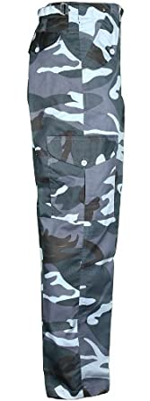 Mens Camouflage Trousers Cargo Combat Army Trouser (34, Midnight)