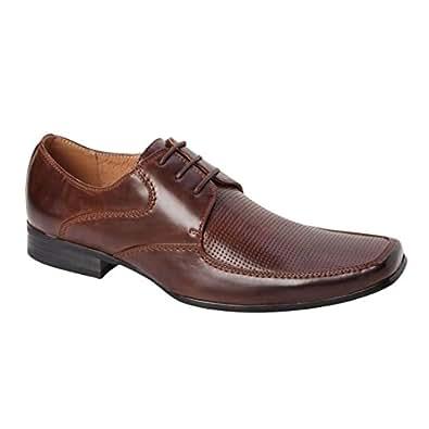 Bonafini Men's C-142 Cognac Brown Lace Up Oxford Dress Shoes   Amazon