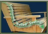 5 Five Feet Ft Made in the USA Cypress Lumber Roll Back Porch Swing with Rot-resistant Cypress Eternal Wood