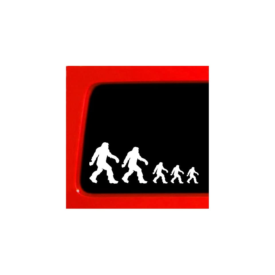 Sasquatch stick figure family bigfoot Vinyl Decal Sticker funny Nobody car new