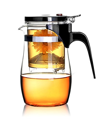 BOCHA Loose Leaf Tea Maker with Glass Teapot, Built in Infuser and Removable Filter - 800ml (Perfect Tea Maker Glass compare prices)