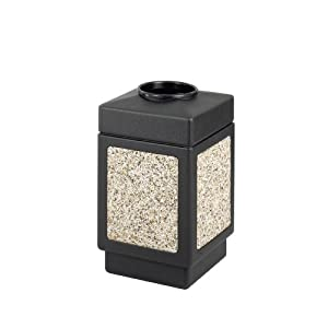 Safco Products Canmeleon Aggregate Panel Waste Receptacle, Top Open, 38 Gallon, Black, 9471NC