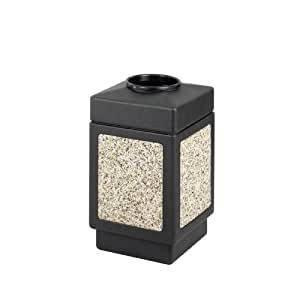 Safco Products 9471NC Canmeleon Aggregate Panel Waste Receptacle, Top Open, 38 Gallon, Black