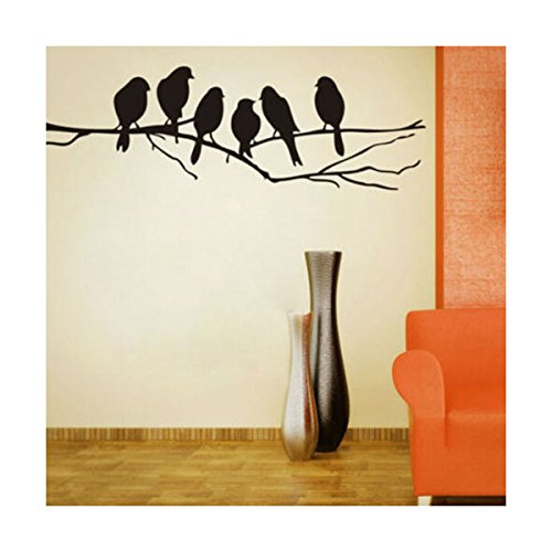 Wall Decal stickers Removable Black Bird Tree Branch Art Home Mural Decor Vinyl Trending Home decor