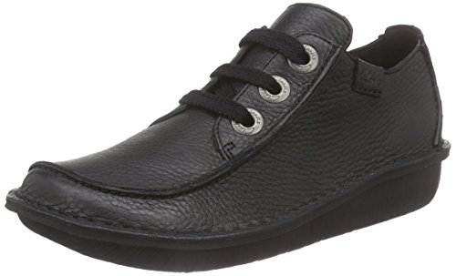 clarks-funny-dream-womens-lace-up-shoes-black-6-uk