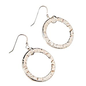 Infinity Silver-dipped Earrings on French Hooks