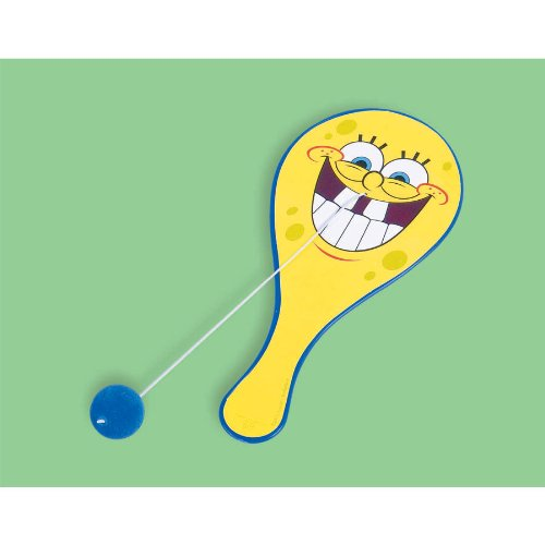Amscan Silly Sponge Bob Party Paddle Ball Favor, Yellow, 8 3/4