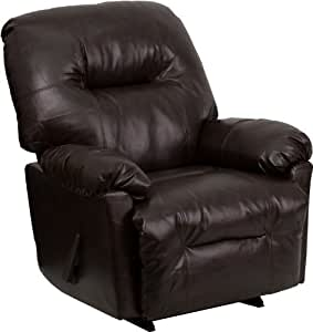 Flash Furniture AM-9350-9075-GG Contemporary Bentley Brown Leather Chaise Rocker Recliner