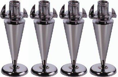 Monacor Ultra Slim Version de 4 pointes-Noir/chromé