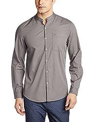 Lee Men's Casual Shirt (8907222646714_L182093868VA00S_Small_Grey)