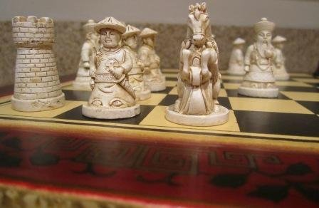 First Emperor Chess Set Qin Dynasty Warriors Black And