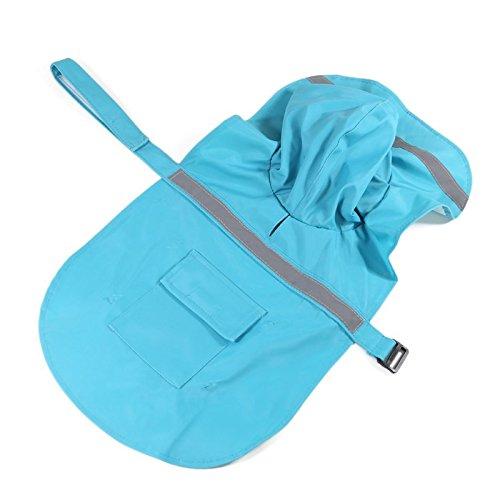 REXSONN® Hoodie Hund Regenmantel Haustier Regenmantel Regenjacke Hunderegenmantel Wasserdicht Kleidung pet dog Raincoat mit reflektierende Streifen XS - XL -