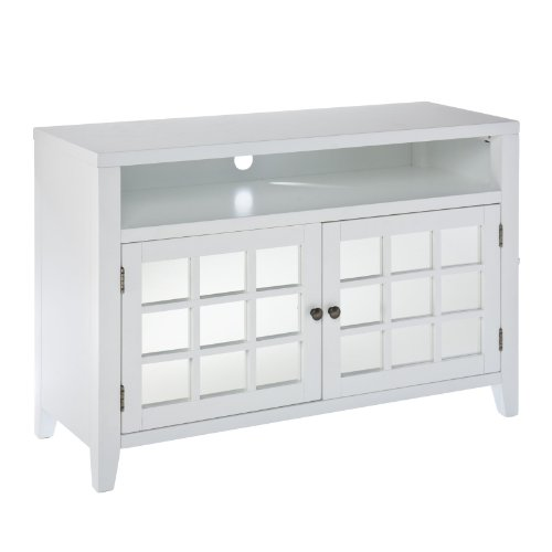 Southern Enterprises Ossa TV / Media Stand - White