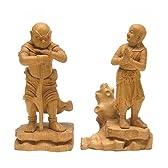 二童子 不動明王脇侍 矜羯羅童子 制吐迦童子 木彫り 仏像 日本仏師作品