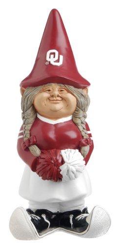 NCAA Oklahoma Sooners Cheerleader Garden Gnome