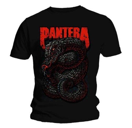 Maglietta ufficiale PANTERA VENOMOUS in metallo a tutte le misure, colore: rosso