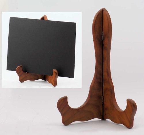 Holzständer 26 cm - Ständer aus massivem Holz für Bücher Teller Hinweisschilder Hinweistafel Buchständer Buchhalter Tellerständer Verkaufsständer Warenständer Displayständer Halter Stütze Universalständer