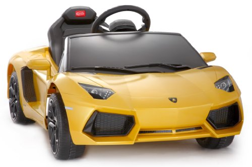 Licensed Lamborghini Aventador Lp700 Kids Ride On Car Toy Electric Car With Remote Control - Yellow