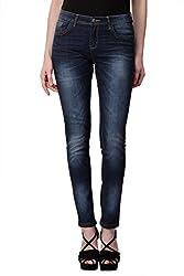 KOTTY Dark Blue Washed Mid Rise Slim Jeans