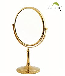 Dolphy Gold 5x Magnification Tabletop Shaving & Makeup Vanity Mirror - 8 Inch