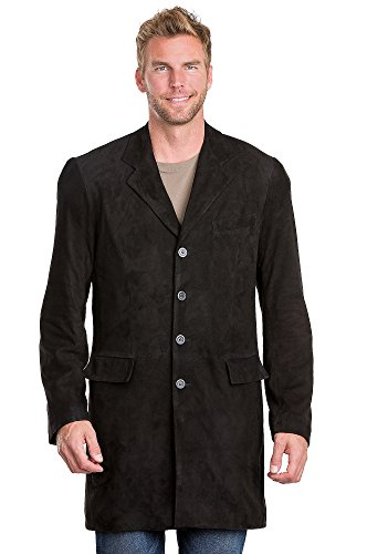 Jerry Suede Leather Blazer Walking Coat