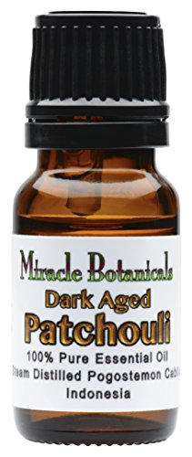 Miracle Botanicals Premium Dark Aged Patchouli Essential Oil - 100% Pure Pogostemon Cablin - 10ml and 30ml Sizes - Therapeutic Grade 10ml