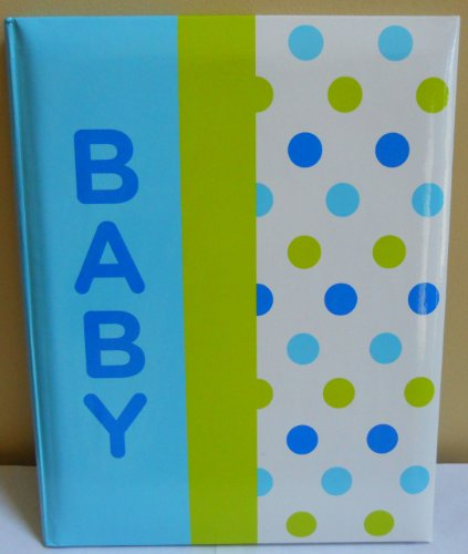 Imagen de Amy Coe bebé Primer registro Año Memory Book - Blue Dot