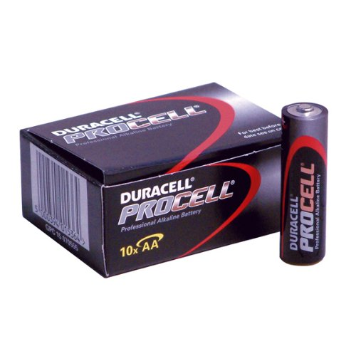 Duracell Procell piles alcalines AA. Boxed Per 10