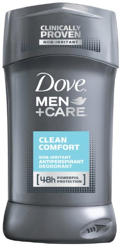 Dove Men+Care Antiperspirant & Deodorant, Clean Comfort 2.7 oz pack of 6