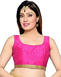 Studio Shringaar Party Pink Polyster Non-Padded Blouse