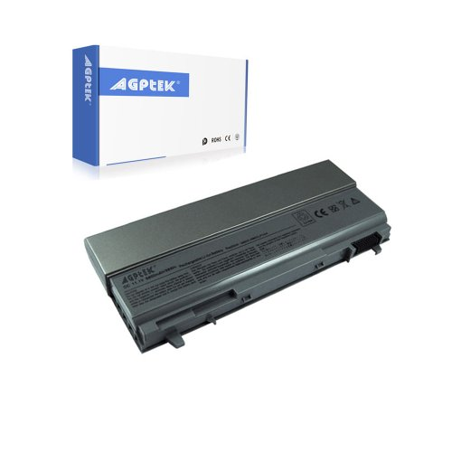 AGPtek® 12 Cell 8800mAh Laptop battery replacement for Latitude E6400 latitude e6410 latitude e6500 Latitude E6510 precision M2400 precision M4400 precision M4500 Latitude E6400 Compatible with PT434 KY477 KY265 312-0749 (Grey) (Latitude E6410 Battery compare prices)