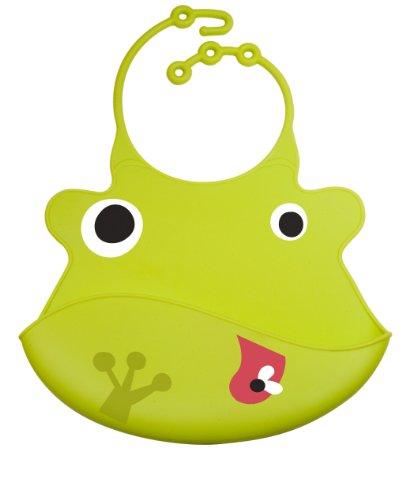 Ulubulu Silicone Bib, Duke the Frog