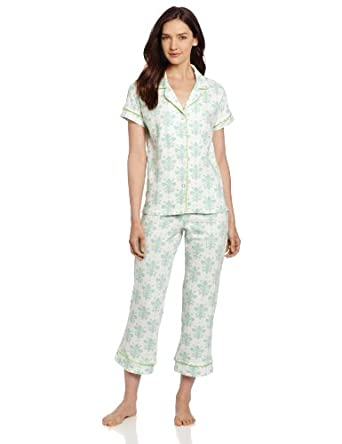 BedHead Pajamas Women's Capri - Short Sleeve, Cream, Medium
