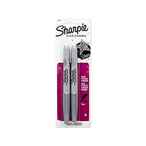 Sharpie Permanent Markers, Fine Point, Metallic, 2 Pack (39108PP)