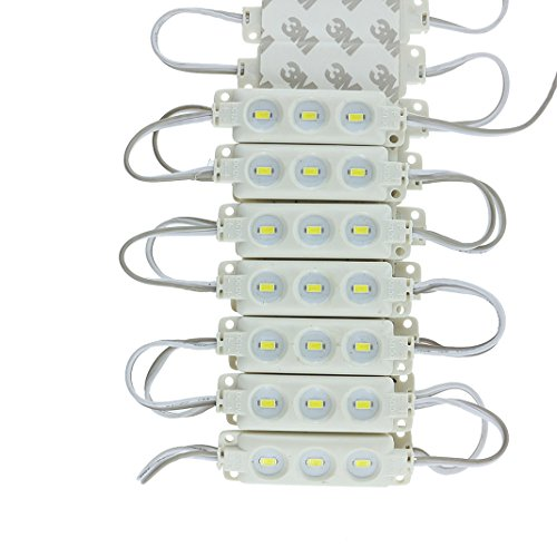 Jiamao Energy Saving Brightness Waterproof 20Pcs Self Adhesive 5730Smd 12V 1.5W 3X Led Module White Light For Signal Lamp And Channel Letter