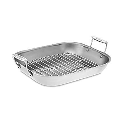 All-Clad Stainless-Steel Large Flared Roaster with Rack