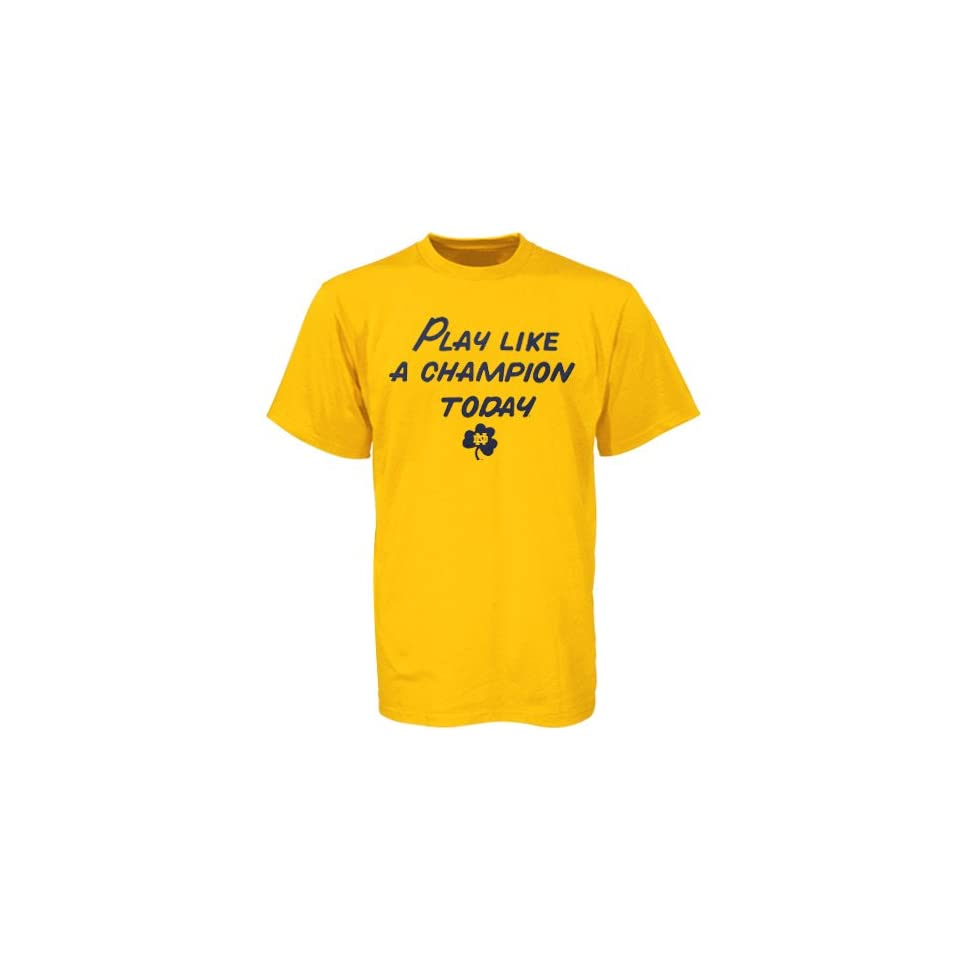 Notre Dame Fighting Irish Gold Youth Play Like a Champion Today T shirt