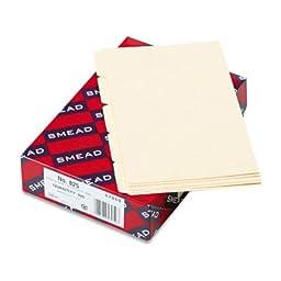SMEAD MANUFACTURING CO 57076 Self-Tab Card Guides, Alpha, 1/5 Tab, Manila, 5 x 8, 25/Set