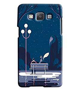Blue Throat Night Park Effect Printed Designer Back Cover/ Case For Samsung Galaxy E5