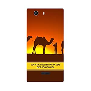 Digi Fashion Designer Back Cover with direct 3D sublimation printing for Micromax Canvas Nitro 2 E311